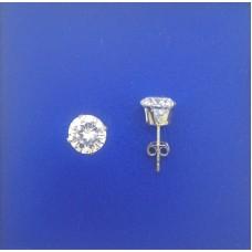 """1312 CZ Stud Earrings 8mm 0.30"""""""