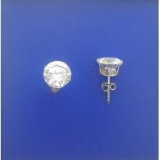 """1313 CZ Stud Earrings 7mm 0.28"""""""