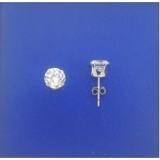 """1314 CZ Stud Earrings 6mm 0.25"""""""