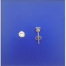 """1316 CZ Stud Earrings 4mm 0.16"""""""