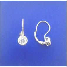 """1358 Leverback Bezel Earrings 0.25"""""""