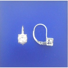 1359 CZ Leverback Round Earrings 0.25""