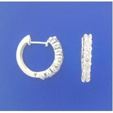 """1363 CZ Huggie Earrings 0.72"""""""