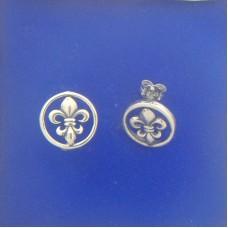"1489P Round FDL Post Earrings S/S 0.50""X0.50"""