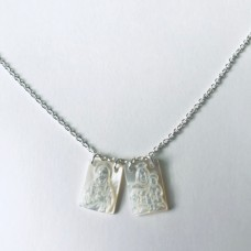 """00 9560S MOP Scapular Necklace 16+2"""""""