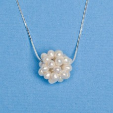 1820 Fresh Water Pearl Large 20mm Pearl Cluster Ball Necklace