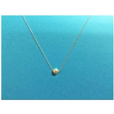 9502 4mm Round Pearl w/Cable Chain