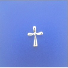 "2392 Cross Pendant with round corners S/S 0.65""X0.20"""