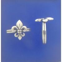 """1491 Classic Fleur de Lis Ring S/S 0.44""""X0.57"""""""